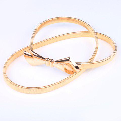 Trendy High Polished Bowknot Flat Belly Chain -   Mobile
