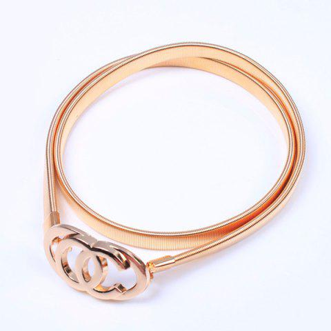Store Openwork Overlap Ring Flat Belly Chain - GOLDEN  Mobile