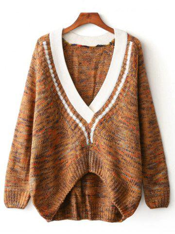 Chic Asymmetrical Jacquard Pullover Cable Sweater