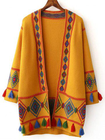 New Geometrical Jacquard Ethnic Cardigan