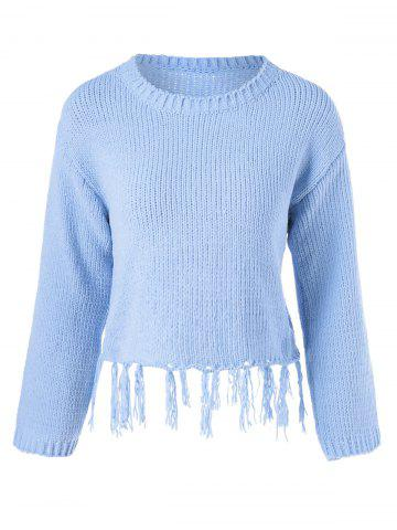 Online Fringed Long Sleeve Pullover Knitwear