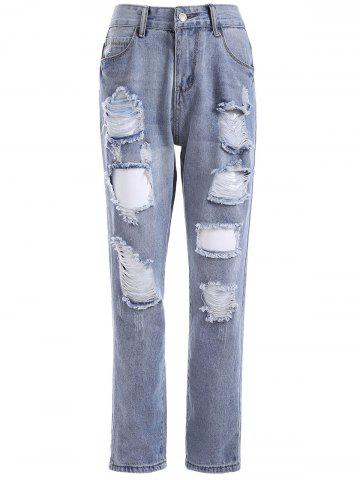 Trendy Ripped BF Ankle Jeans