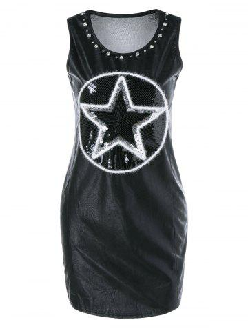 Affordable Sequined Beaded Sleeveless Mini Dress