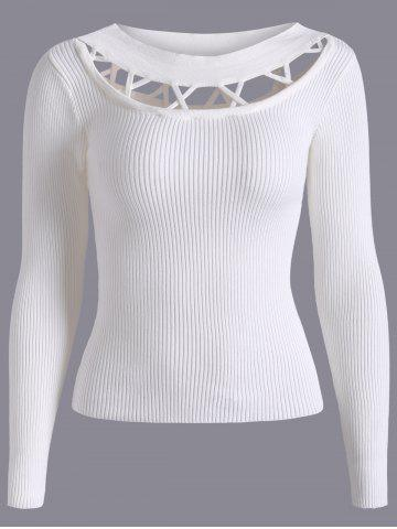 Unique Hollow Out Fitting Knitwear