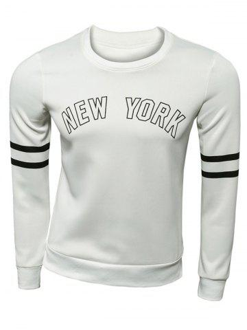 Shops Varsity Striped New York Graphic Sweatshirts