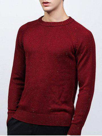 Affordable Ribbed Raglan Sleeve Crew Neck Sweater