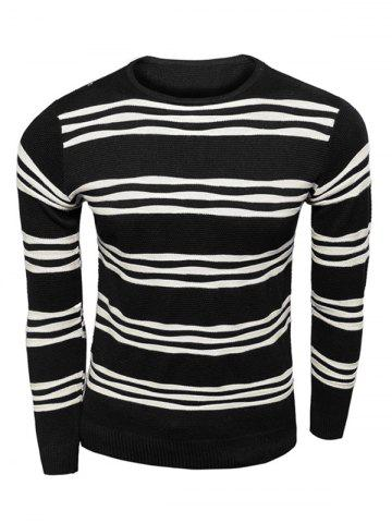 Trendy Long Sleeves Striped Pullover Knitwear