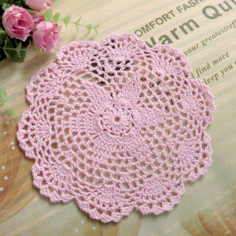 Affordable Crochet Hollow Out Floral Table Meal Placemat