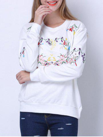 Outfits Floral Embroidered Sweatshirt