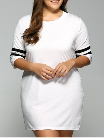 Hot 3/4 Sleeve T Shirt Dress