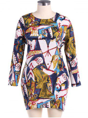 Store Plus Size Monster Print Dress
