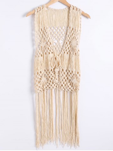 Outfits Hollow Out Fringe Crochet Waistcoat