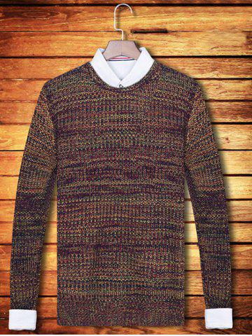 Fashion Knit Blends Crew Neck Long Sleeve Sweater