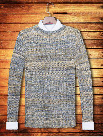 Trendy Knit Blends Crew Neck Long Sleeve Sweater