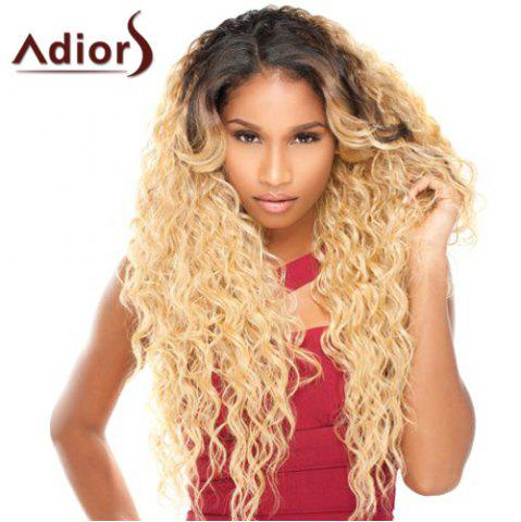 Long Side Parting Curly Double Color Adiors Synthetic Wig - Colormix