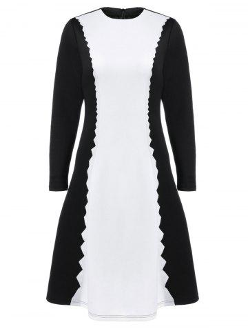Outfit Serrated Graphic Fit and Flare Dress
