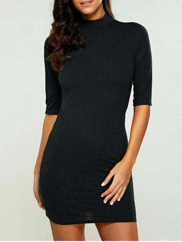 Buy High Neck Bodycon Ribbed Knit T Shirt Dress