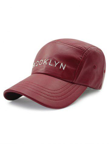 Chic Casual Brooklyn Embroidery PU Baseball Hat