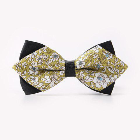 Buy Banquet Flowers Print Sharp-Angled Double-Deck Bow Tie