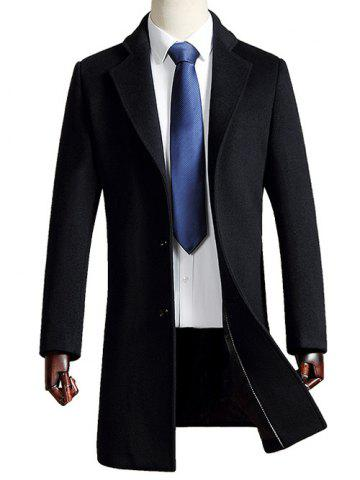 Outfit Turn Down Collar Woolen Blend Coat