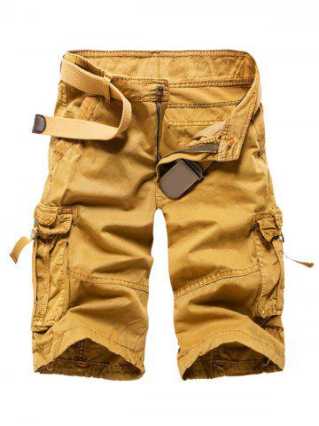 Discount Zipper Fly Straight Leg Multi-Pocket Cargo Shorts