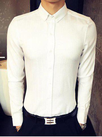 Buy Slim Fit Long Sleeve Button-Down Shirt