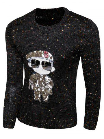Outfits Cartoon Figure Print Long Sleeve Crew Neck Sweater