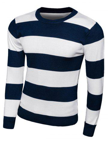 Best Striped Long Sleeve Crew Neck Knitwear