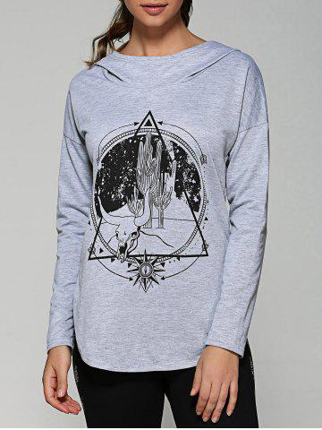 Outfit Rounded Hem Graphic Hoodie