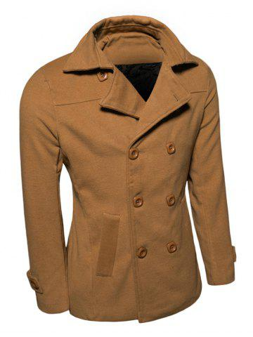 Outfit Turn-Down Collar Double-Breasted Wool Coat EARTHY XL