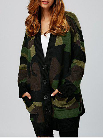 Latest Single Breasted Design Double Pockets Cardigan