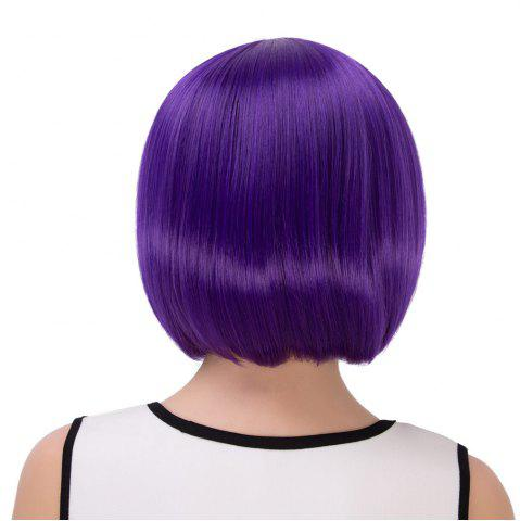 Store Exquisite Synthetic Cosplay Short Full Bang Bob Haircut Wig - PURPLE  Mobile