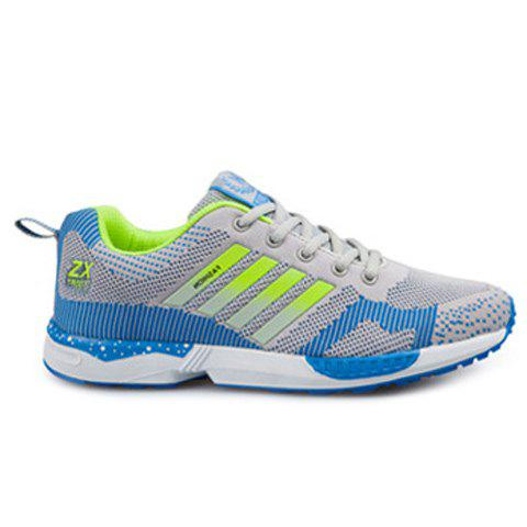 Sale Breathable Color Spliced Tie Up Athletic Shoes
