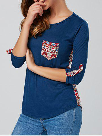 Cheap Back Print  Long Sleeve Tee