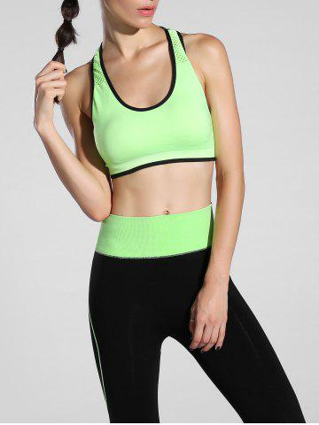Outfit Cut Out Racerback Sporty Bra