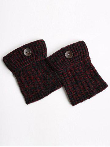 Online Warm Buttons Yoga Knit Boot Cuffs