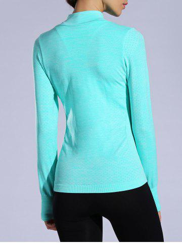 Outfit Zip Up Slimming Sporty Running Jacket - L LAKE BLUE Mobile