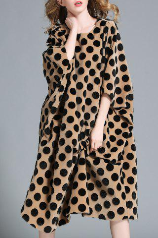 Asymmetric Polka Dot Midi Dress