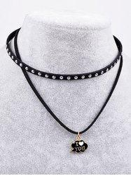 Double Layers Love Letter Necklace -