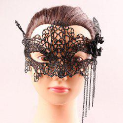 Mystical Half Face Lace Hollow Out Chains Flower Masquerade Masks -