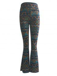 High Waist Tribal Print Trumpet Pants -