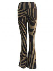 High Waist Two-Toned Trumpet Pants -