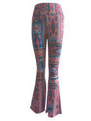 High Waist Ethnic Print Trumpet Pants