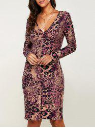 Packet Buttock Leopard Dress