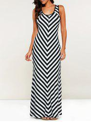 Casual Striped Maxi Dress -