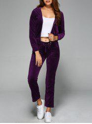 Hoodie and Flap Pockets Pants -