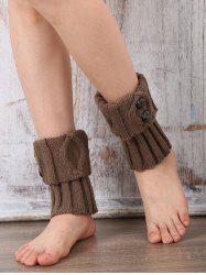 Warm Buttons Rhombus Flanging Boot Cuffs