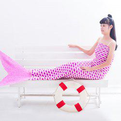 Warmth Fish Scale Pattern Wrap Mermaid Tail Blanket - LIGHT PINK