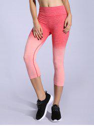 Stretchy Ombre Space-Dyed Sporty Leggings -
