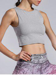 Slim Stretchy Sporty Crop Top -